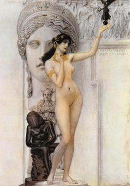 Allegory of Sculpture by Gustav Klimt