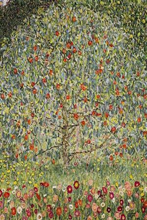 Gustav Klimt (Apple Tree) Plastic Sign