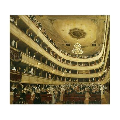 "Auditorium in the ""Altes Burgtheater"", the old Court Theatre, replaced by a new building in 1888. by Gustav Klimt"