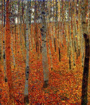 Beach Forest by Gustav Klimt