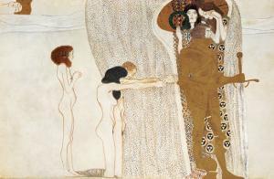 Beethoven Frieze: Desire For Happiness, c.1902 by Gustav Klimt