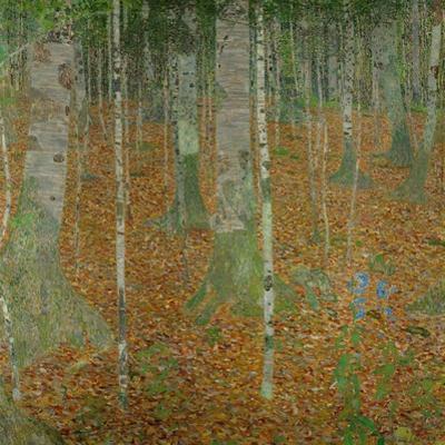 Buchenwald (Beech trees). Oil on canvas (1903). by Gustav Klimt