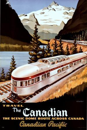 Canadian Pacific, The Scenic Dome Route by Gustav Klimt
