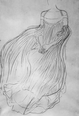 Gustav Klimt Costume Study Art Print Poster