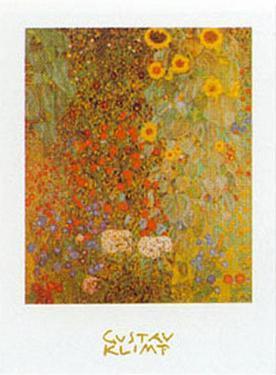 Country Garden with Sunflowers by Gustav Klimt