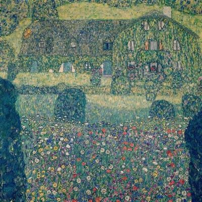 Country house on Attersee Lake (Landhaus am Attersee), Upper Austria. Oil on canvas (1914). by Gustav Klimt