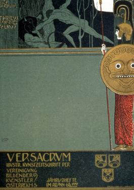 Cover of Ver Sacrum, the Journal of the Viennese Secession, of Theseus and the Minotaur by Gustav Klimt