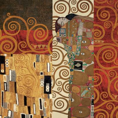 Deco Collage Detail (from Fulfillment, Stoclet Frieze) by Gustav Klimt
