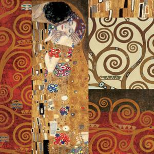Deco Collage Detail (from The Kiss) by Gustav Klimt