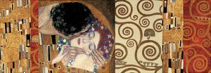 Deco Collage (from The Kiss) by Gustav Klimt