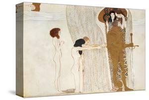 Desire of Happiness, Beethoven Frieze (detail), 1902 by Gustav Klimt