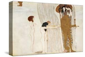 Desire of Happiness, Beethoven Frieze (detail), 1902 by Gustav Klimt