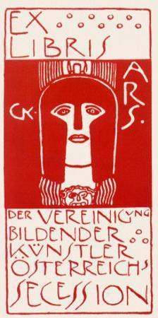 Ex Libris, Secession. Cover of Ver Sacrum, c.1902 by Gustav Klimt