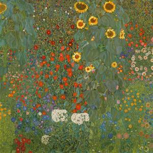 Farm Garden with Sunflowers, 1905-06 by Gustav Klimt