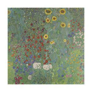 Farm Garden with Sunflowers, 1907 by Gustav Klimt