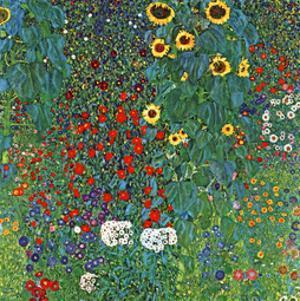 Farm Garden with Sunflowers, c.1905/1906 by Gustav Klimt