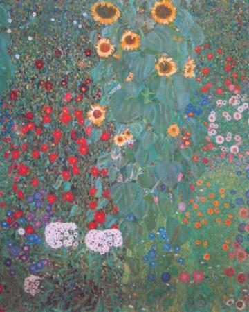 Farm Garden with Sunflowers by Gustav Klimt