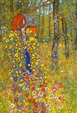 Gustav Klimt Farmers Garden with Crucifix Art Print Poster