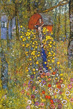 Farmers Garden with Crucifix by Gustav Klimt