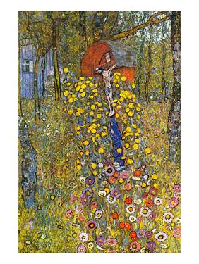 Farmers Garden with Crucifix by Gustav Klimt