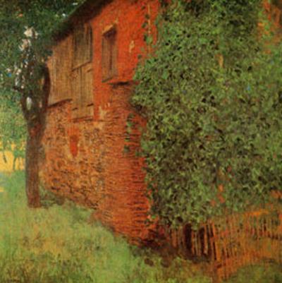 Farmhouse at Kammer by Gustav Klimt