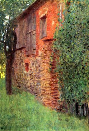 Gustav Klimt Farmhouse in Chamber in Attersee Art Print Poster