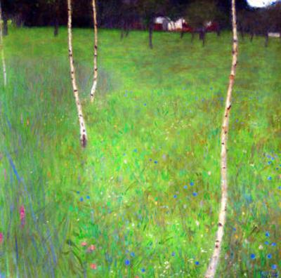 Farmhouse with Birch Trees by Gustav Klimt