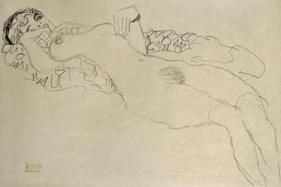 Female Nude Turned Left, 1914/15