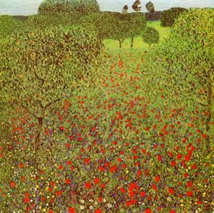 Field of Poppies by Gustav Klimt