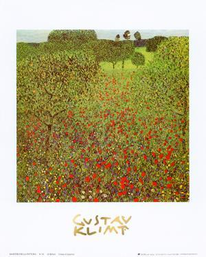 Field of Poppies by Gustav Klimt