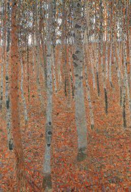 Gustav Klimt Forest of Beech Trees Art Print Poster