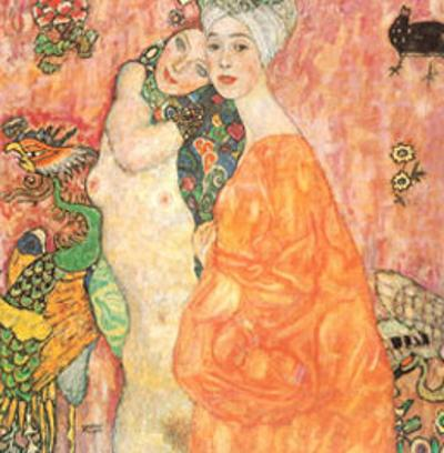 Freunddinnen by Gustav Klimt