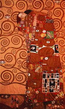 Fulfillment, Stoclet Frieze, c.1909 by Gustav Klimt