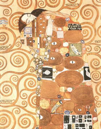 Gustav Klimt Fulfilment L' Accomplissement Art Print Poster