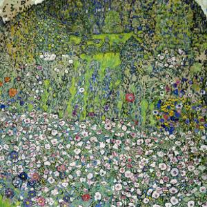 Garden Landscape with Hilltop by Gustav Klimt
