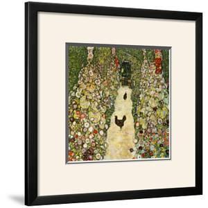 Garden Path with Chickens by Gustav Klimt