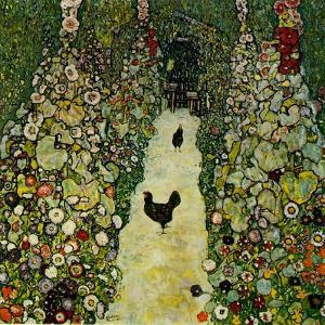 Garden with Chickens, 1916 by Gustav Klimt