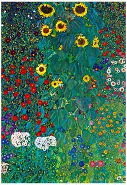 Gustav Klimt Garden with Crucifix 2 Detail Art Print Poster