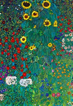 Gustav Klimt Garden with Crucifix 2 Detail  Art Print Poster