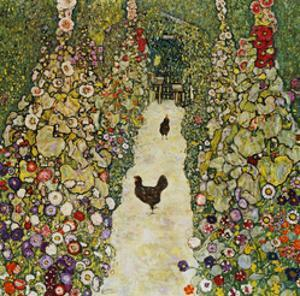 Gardenpath with Hens, 1916 by Gustav Klimt