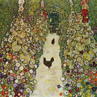 Gardenpath with Hens, 1916