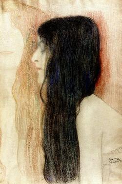 Girl with Long Hair, 1898-99 by Gustav Klimt
