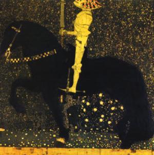 Gold Cavalier by Gustav Klimt