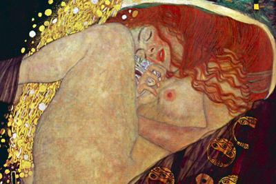 Gustav Klimt (Danae) Plastic Sign by Gustav Klimt