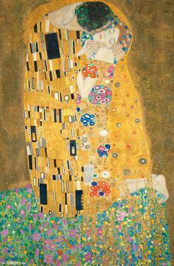 Gustav Klimt- The Kiss by Gustav Klimt