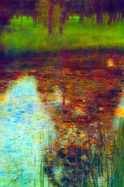 Gustav Klimt The Marsh Plastic Sign by Gustav Klimt