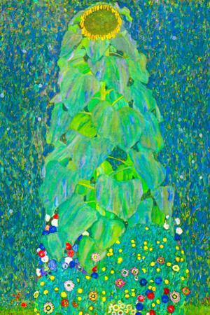 Gustav Klimt The Sunflower Plastic Sign by Gustav Klimt