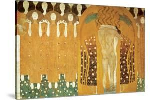 Here's a Kiss to the Whole World, Beethoven Frieze (detail), 1902 by Gustav Klimt