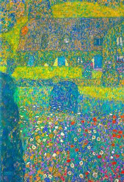 Gustav Klimt House in Attersee Art Print Poster