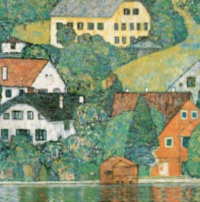 Houses at Unterach by Gustav Klimt